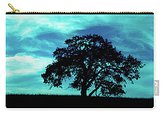 Carry-all Pouch featuring the photograph Lone Oak by Jim and Emily Bush