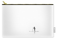Carry-all Pouch featuring the photograph Lone Paddle Boarder by Will Gudgeon