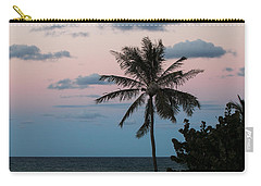 Lone Palm At Sunset Carry-all Pouch by E Faithe Lester