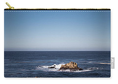 Carry-all Pouch featuring the photograph Lone Rock In The Ocean by Jingjits Photography