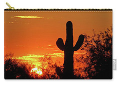 Lone Saguaro Sunrise Carry-all Pouch