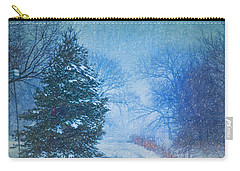 Lone Snowy Lane Carry-all Pouch