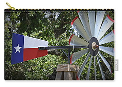 Carry-all Pouch featuring the photograph Lone Star Windmill by Nadalyn Larsen