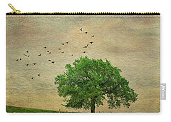 Carry-all Pouch featuring the photograph Lone Tree by Anna Louise