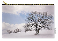 Lone Tree In Snow Carry-all Pouch by Betty Denise