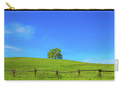 Lone Tree On A Hill Digital Art Carry-all Pouch