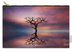 Lone Tree Sunrise Carry-all Pouch by Ian Mitchell