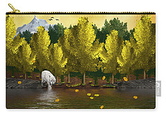 Lone Wolf At The River Carry-all Pouch