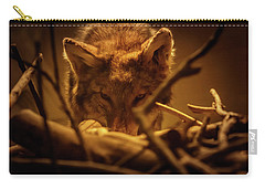 Lone Wolf In The Museum Carry-all Pouch