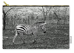 Lone Zebra Carry-all Pouch