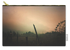 Carry-all Pouch featuring the digital art Lonely Fence Post  by Chriss Pagani