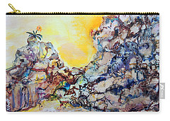 Carry-all Pouch featuring the painting Lonely Flower by Mary Schiros