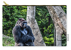 Carry-all Pouch featuring the photograph Lonely Gorilla by Joann Copeland-Paul