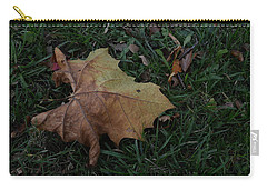 Carry-all Pouch featuring the photograph Lonely Leaf by Richard Ricci