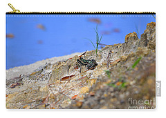 Carry-all Pouch featuring the photograph Lonely Leopard by Al Powell Photography USA