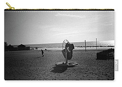 Lonely Man In Ostia Beach Carry-all Pouch
