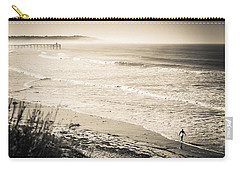 Carry-all Pouch featuring the photograph Lonely Pb Surf by T Brian Jones