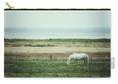 Carry-all Pouch featuring the photograph Lonely Pony by Karen Stahlros