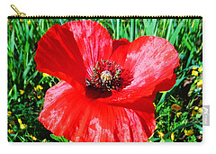 Lonely Poppy Carry-all Pouch
