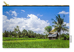 Carry-all Pouch featuring the photograph Lonely Rice Hut by T Brian Jones