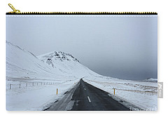 Lonely Road On Snaefellsnes Peninsula Carry-all Pouch