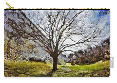 Carry-all Pouch featuring the painting Lonely Tree by Derek Gedney