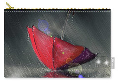 Carry-all Pouch featuring the digital art Lonely Umbrella by Darren Cannell