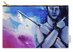 Carry-all Pouch featuring the painting Lonely Warrior  by Rene Capone