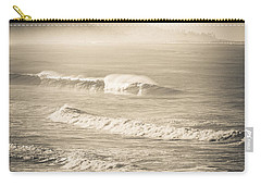 Carry-all Pouch featuring the photograph Lonely Winter Waves by T Brian Jones