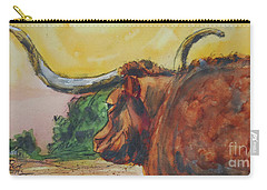 Lonesome Longhorn Carry-all Pouch by Ron Stephens