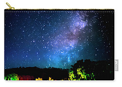 Carry-all Pouch featuring the photograph Lonesome Texas Highway by David Morefield