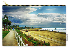 Carry-all Pouch featuring the photograph Long Beach Bluff Park by Joseph Hollingsworth