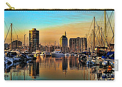 Carry-all Pouch featuring the photograph Long Beach Harbor by Mariola Bitner
