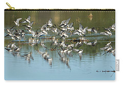 Carry-all Pouch featuring the photograph Long-billed Dowitchers by Tam Ryan