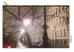 Long Cobblestone Street Of Prague Carry-all Pouch by Margaret Brooks