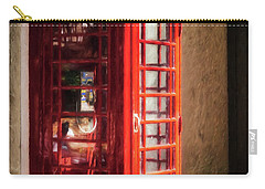 Carry-all Pouch featuring the photograph Long Distance Call To London by Mel Steinhauer