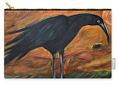 Long Legged Crow Carry-all Pouch