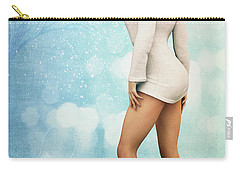Carry-all Pouch featuring the digital art Long Legs by Jutta Maria Pusl
