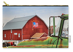 Carry-all Pouch featuring the photograph Long May She Wave by DJ Florek