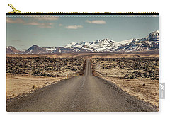 Carry-all Pouch featuring the photograph Long Road Ahead by Wade Courtney