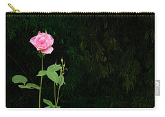 Carry-all Pouch featuring the photograph Long Stemmed Rose by Jean Noren