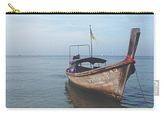 Carry-all Pouch featuring the photograph Long Tail Boat Stillness by Ivy Ho