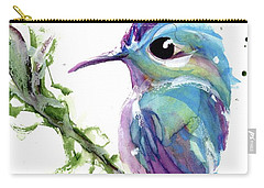 Carry-all Pouch featuring the painting Long-tailed Sylph by Dawn Derman