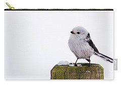 Long-tailed Tit On The Pole Carry-all Pouch by Torbjorn Swenelius