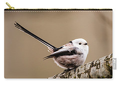 Long-tailed Tit Wag The Tail Carry-all Pouch by Torbjorn Swenelius