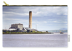 Carry-all Pouch featuring the photograph Longannet Power Station by Jeremy Lavender Photography