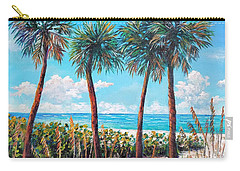 Longboat Key Palms Carry-all Pouch by Lou Ann Bagnall