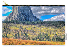 Longhorn At Devils Tower Carry-all Pouch