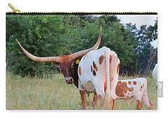 Longhorn Cattle Carry-all Pouch by Robin Regan