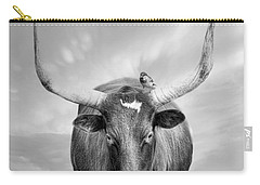 Carry-all Pouch featuring the photograph Longhorn Respite by Robin-Lee Vieira